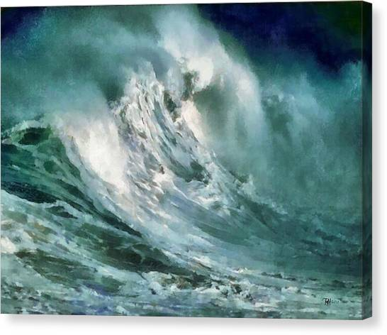 Tsunami - Raging Sea Canvas Print by Russ Harris