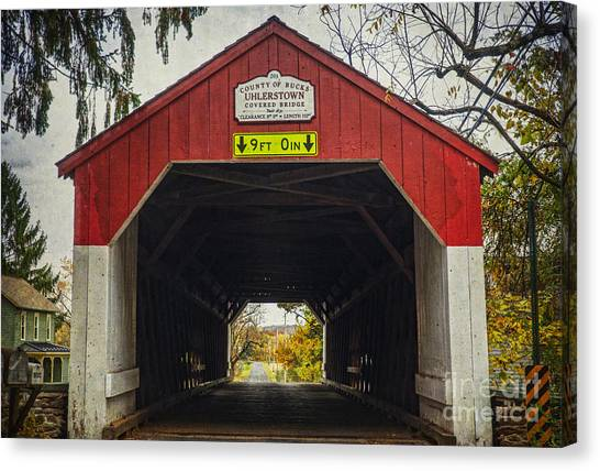 Uhlerstown Covered Bridge Iv Canvas Print