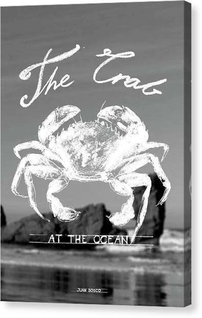 Crabs Canvas Print -  Velvet Crab, by Juan Bosco