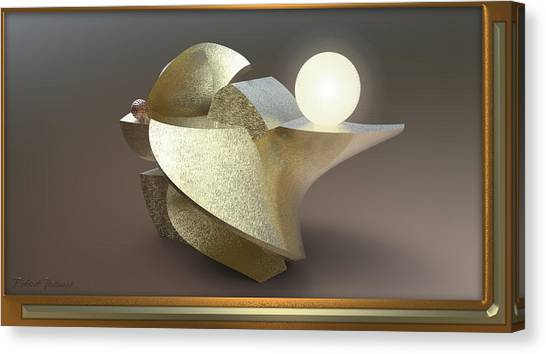 ' Wavy Cut Sculpture Light ' Canvas Print