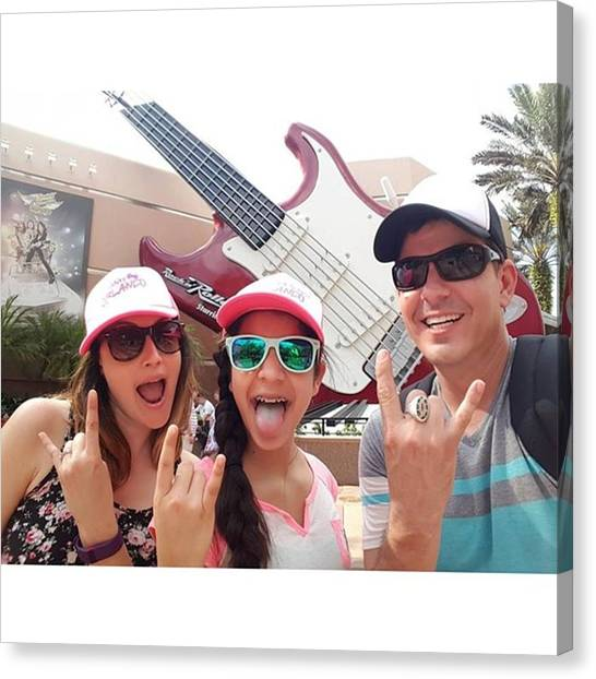 Bands Canvas Print - 0 To 100 Real Quick At Disney World by Andrew Nourse