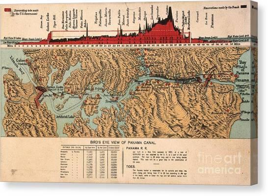 Aod Canvas Print - Card: Panama Canal, 1914 by Granger