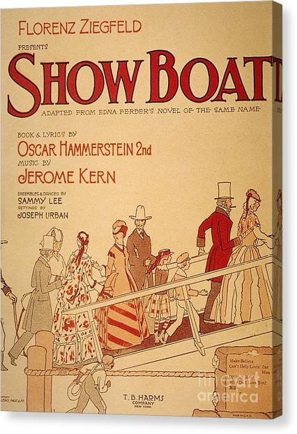 Aod Canvas Print - Show Boat Poster, 1927 by Granger
