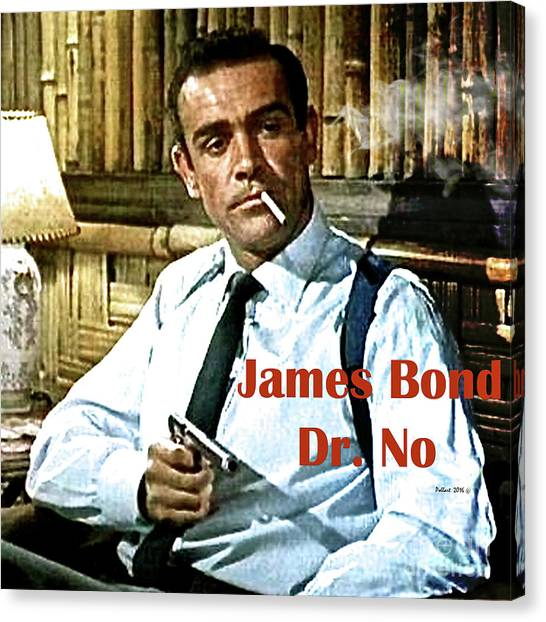 University Of Missouri Canvas Print - 007, James Bond, Sean Connery, Dr No by Thomas Pollart