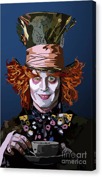 Johnny Depp Canvas Print - 015. What Can You Do by Tam Hazlewood