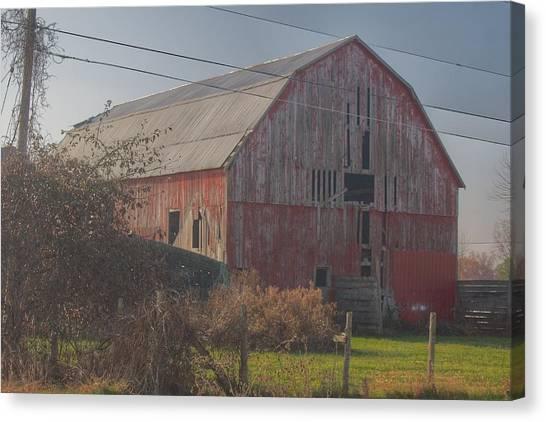 0153 - Dodge Road Red I Canvas Print