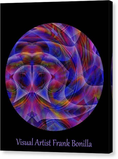 Canvas Print featuring the digital art #021120163 by Visual Artist Frank Bonilla