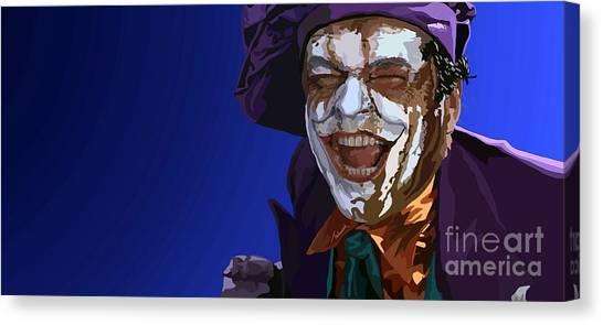 Jack Nicholson Canvas Print - 035. Wait Till They Get A Load Of Me by Tam Hazlewood