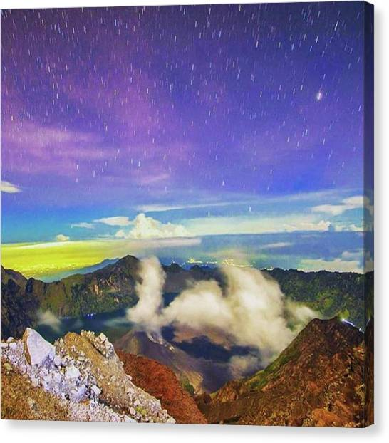 Starry Night Canvas Print - 0430hrs. Mt Rinjani Caldera by Freddie Tay