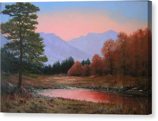 051116-3020     First Light Of Day   Canvas Print by Kenneth Shanika
