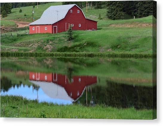Red Barn Burgess Res Divide Co Canvas Print