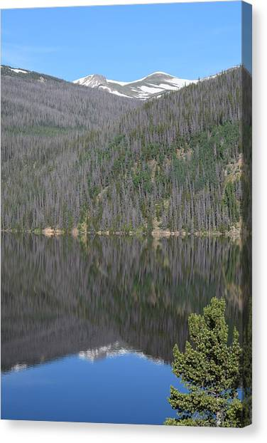 Chambers Lake Reflection Hwy 14 Co Canvas Print