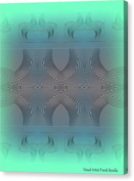 Canvas Print featuring the digital art #061220171 by Visual Artist Frank Bonilla