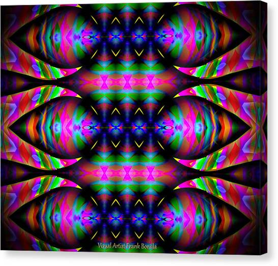 Canvas Print featuring the digital art #0627201523 by Visual Artist Frank Bonilla