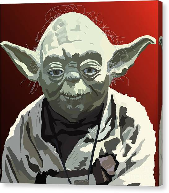 Yoda Canvas Print - 068. Do Or Do Not. There Is No Try by Tam Hazlewood