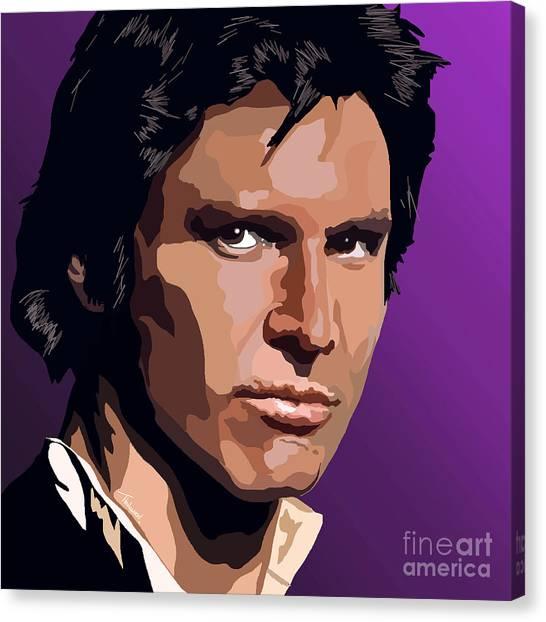 Han Solo Canvas Print - 069. I Know A Few Maneuvers by Tam Hazlewood