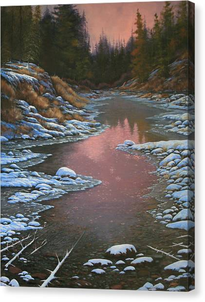 080210-3040 Early Morning Light - Winter Canvas Print by Kenneth Shanika