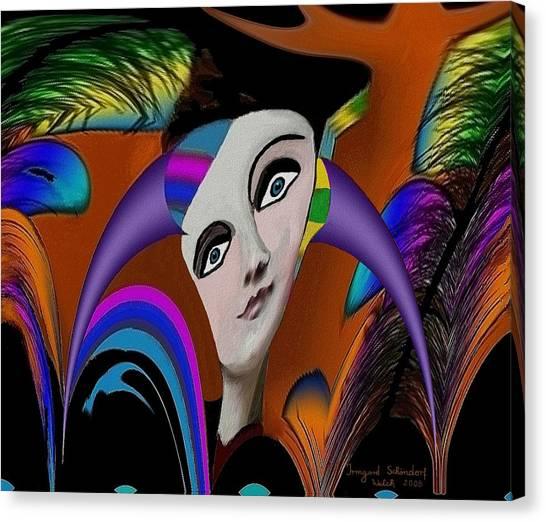 087 -   Flippy Girl  Canvas Print by Irmgard Schoendorf Welch