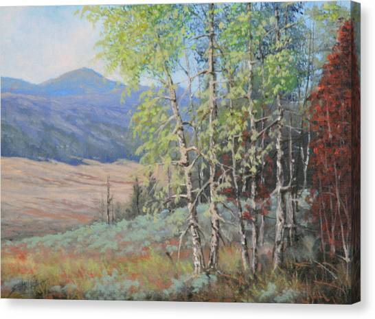 090925-68   The Peak Of Summer Canvas Print by Kenneth Shanika