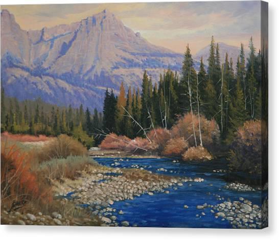 091019-912  Wandering Toward Sundown Canvas Print by Kenneth Shanika