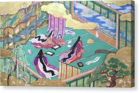 絵巻風#絵巻 #japanesepainting Canvas Print by Tomoko Nakai
