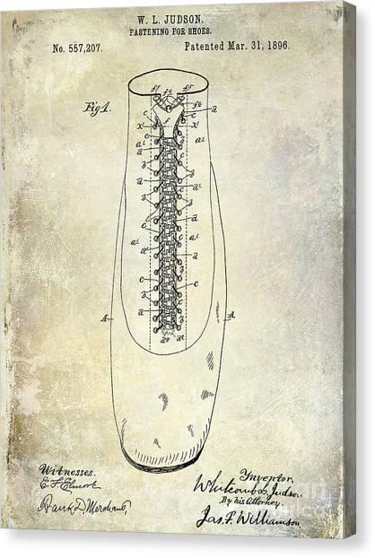 Nike Canvas Print - 1896 Shoe Patent  by Jon Neidert