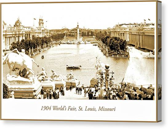 1904 World's Fair, Grand Basin View From Festival Hall Canvas Print