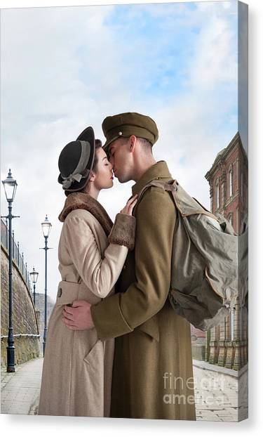 1940s Lovers Canvas Print