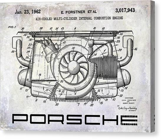 Patent Canvas Print - 1962 Porsche Engine Patent by Jon Neidert