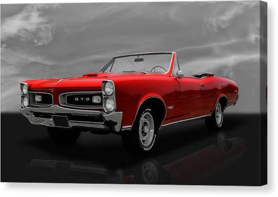 1966 Pontiac Gto 389 Tri-power Canvas Print