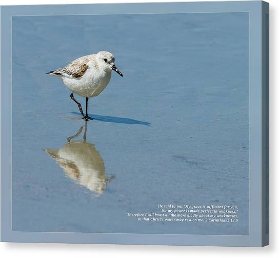 Canvas Print featuring the photograph 2 Corinthians 12 9 by Dawn Currie