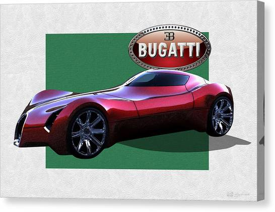 Automobiles Canvas Print - 2025 Bugatti Aerolithe Concept With 3 D Badge  by Serge Averbukh