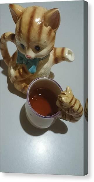 Koneko Means A Kitten Canvas Print