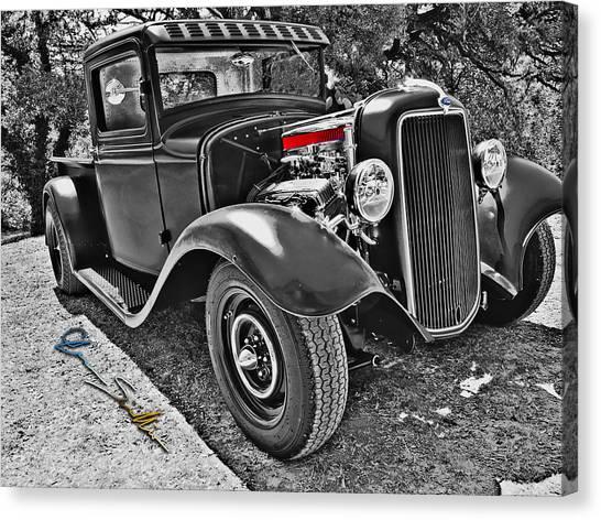 34 Ford Rat Rod Pickup Canvas Print