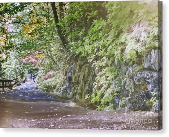 Road To Emmaus Canvas Print by Jean OKeeffe Macro Abundance Art