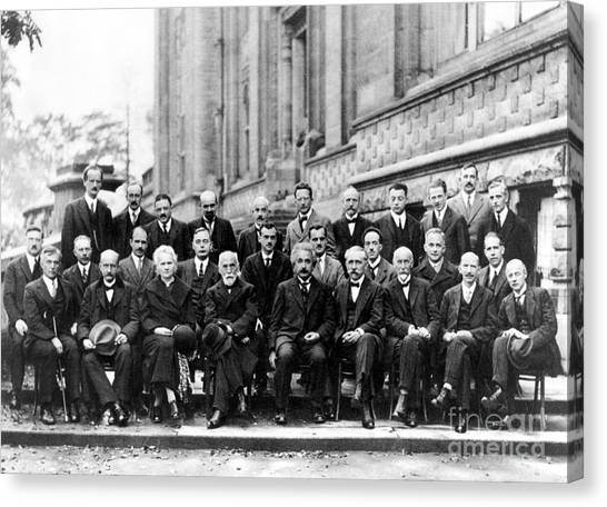 Notable Canvas Print - 5th Solvay Conference Of 1927 by Science Source