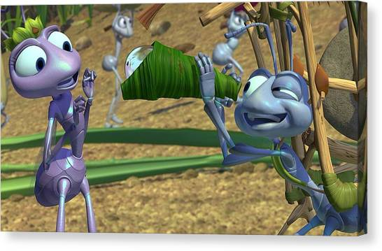 Golfers Canvas Print - A Bug's Life by Maye Loeser