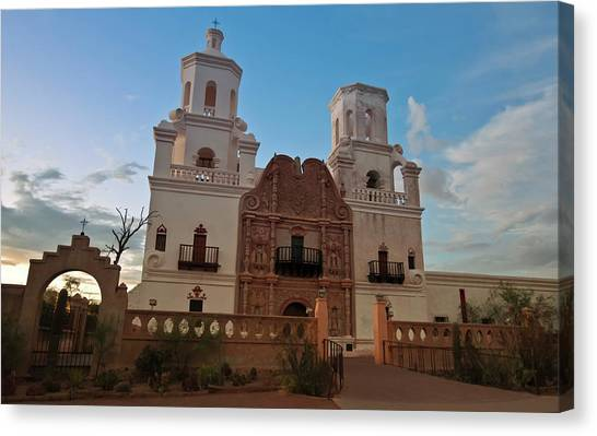 Father Kino Canvas Print - A Mission San Xavier Del Bac, Tucson by Derrick Neill