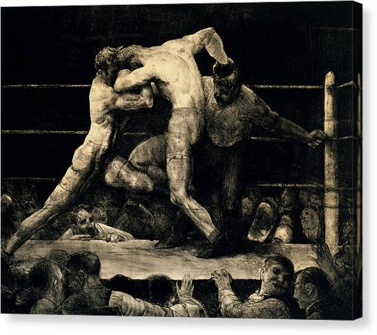 Knockout Canvas Print - A Stag At Sharkey's by George Bellows
