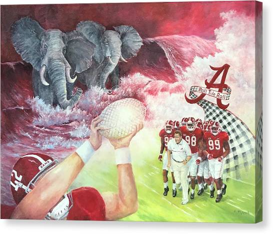 Conference Usa Canvas Print - A Tradition Of Heroes by ML McCormick