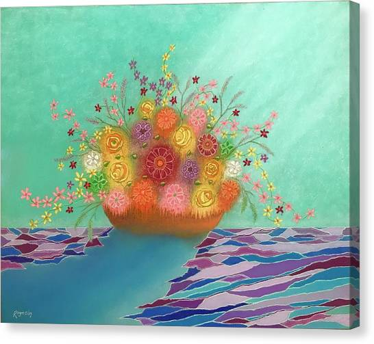 A Vase Of Flowers Iv Canvas Print