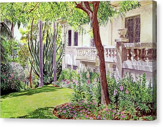 Beverly Hills Canvas Print - A Visit To Virginia's by David Lloyd Glover