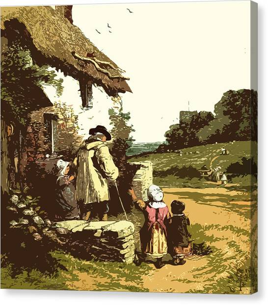 A Walk With The Grand Kids Canvas Print