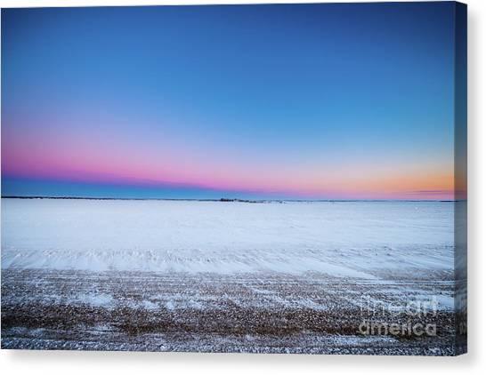 Saskatchewan Canvas Print - A Winter's Morning by Ian McGregor