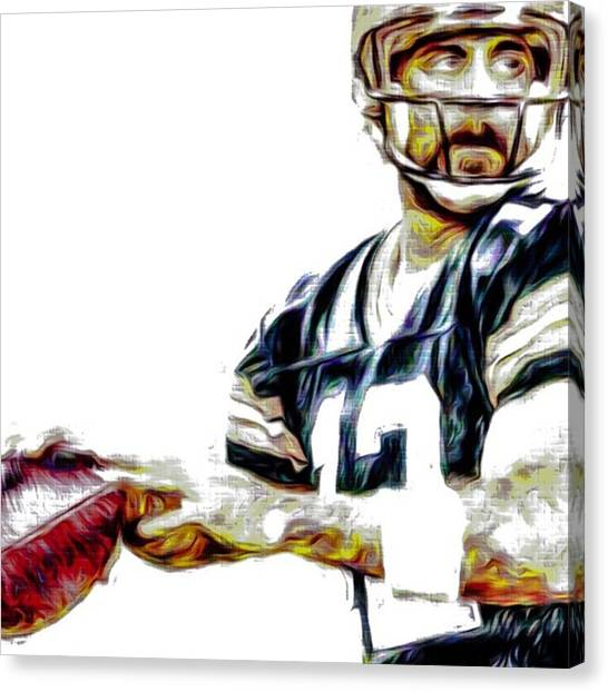 Superbowl Canvas Print - @aaronrodgerss #aaronrodgers #12 by David Haskett