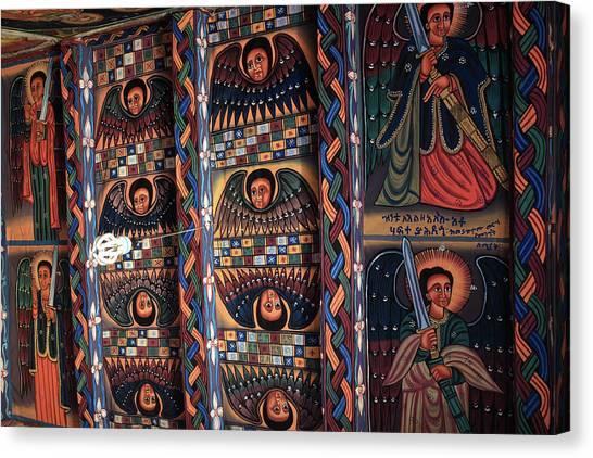 Coptic Art Canvas Print - Abba Pantaleon Monastery, Axum, Ethiopia by Aidan Moran