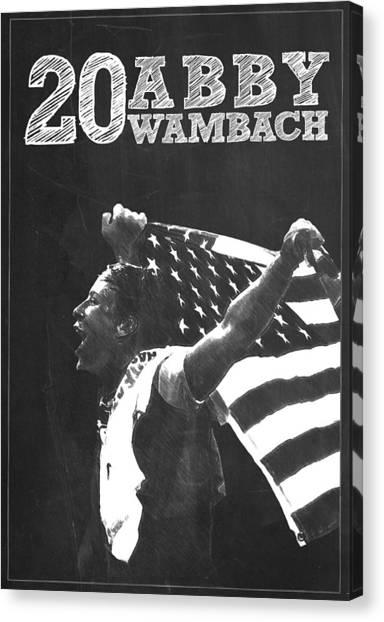 Clint Dempsey Canvas Print - Abby Wambach by Semih Yurdabak
