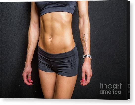 Abdominal Muscles Canvas Print