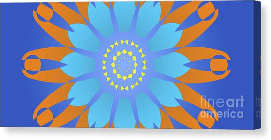 Arte Canvas Print - Abstract Blue, Orange And Yellow Star by Drawspots Illustrations