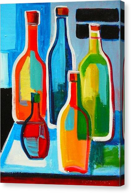 Abstract Bottles Canvas Print
